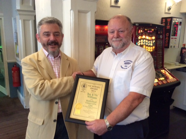 A Special CAMRA Award to Ray and Viv 2014